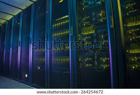 Control modules heat power. Computer servers.