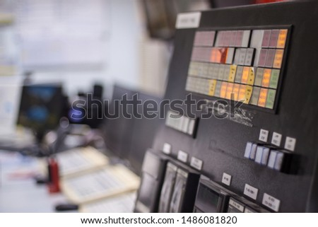 control panel in control room #1486081820