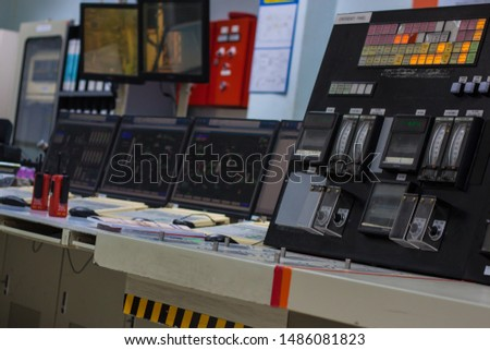 control panel in control room #1486081823