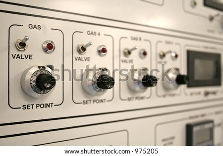 Control panel of a clean-room equipment