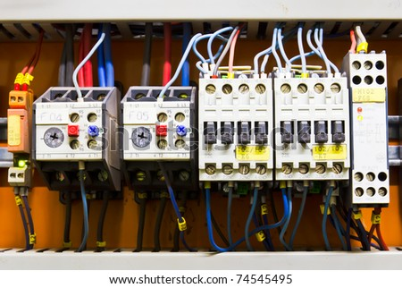 Control panel with circuit-breakers (fuse)