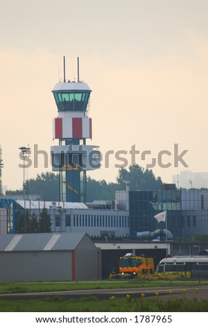 Control Tower and Emergency Services at Rotterdam Airport in The Netherlands