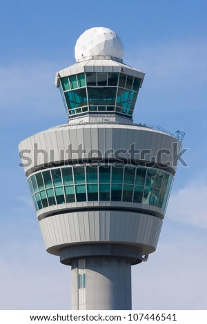 Control tower at Schiphol airport, the Netherlands