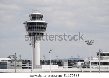 Control tower of an airport