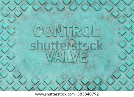 Control Valve Blue Green Covering
