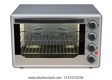 Convection Toaster Oven with Rotisserie and Grill, 3D rendering isolated on white background