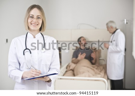 Conversation between doctor and patient