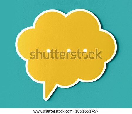 Conversation speech bubble cut out icon #1051651469