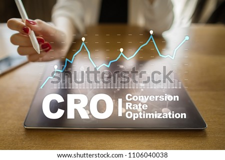 Conversion rate optimization, CRO concept and lead generation. #1106040038