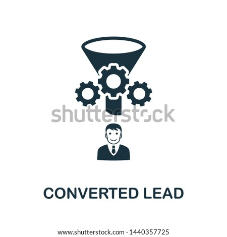 Converted Lead icon illustration. Creative sign from crm icons collection. Filled flat Converted Lead icon for computer and mobile. Symbol, logo graphics.
