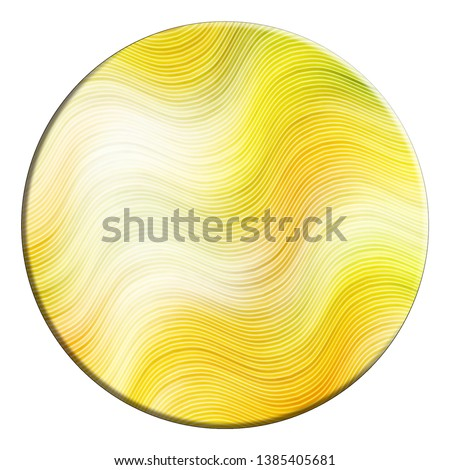 Convex colorful relief wavy circle isolated on white background #1385405681