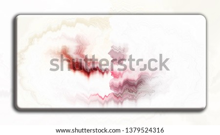 Convex relief rectangular chaotic colorful striped plate on abstract horizontal pattern #1379524316