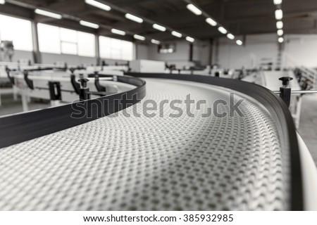 conveyer belt close up