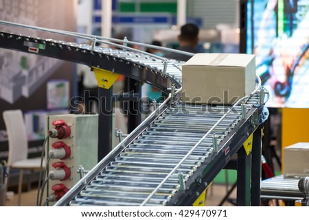 Conveyor Belt system for Package tranfer machine
