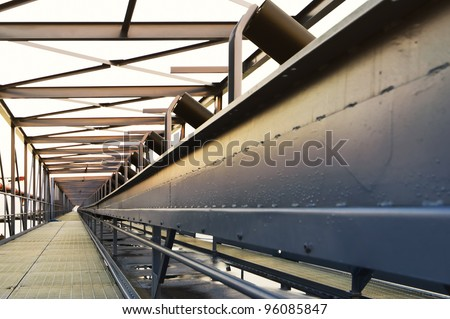 Conveyor bridge used to transport coal from ship to power plant