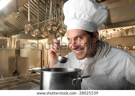 cook in a restaurant kitchen