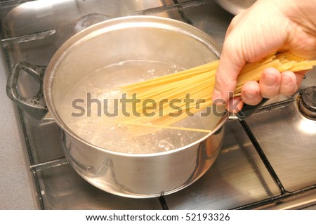 cook the pasta in the pot on the stove
