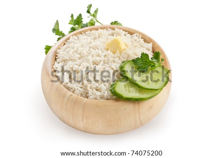 cooked rice in plate