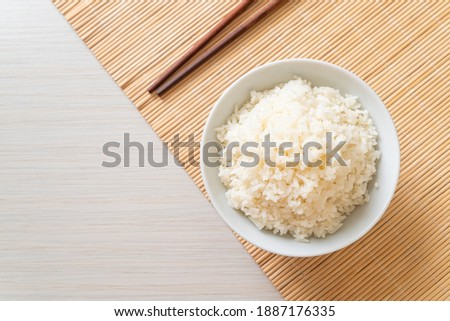 cooked Thai jasmine white rice bowl Stock photo ©