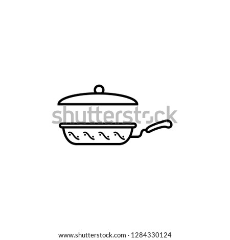 cookery, cooking ware, frying pan, skillet icon. Element of kitchen utensils icon for mobile concept and web apps. Detailed cookery, cooking ware, frying pan, skillet icon