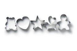 cookie cutter isolated on white background.