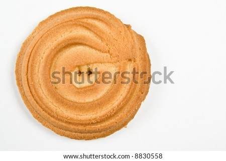 Cookie ring isolated on white
