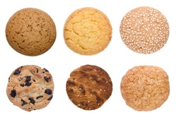 cookie set isolated on a white background