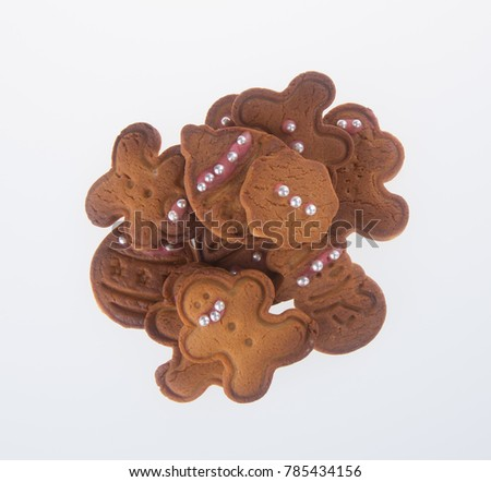 Cookie. X'mas Cookie on the background. Cookie. Gingerbread Cookie on the background. #785434156