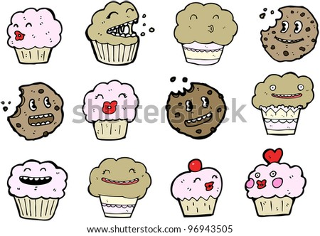 cookies and  muffins cartoon collection (raster version)