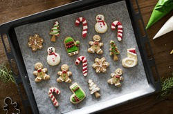 Cookies for christmas different shapes