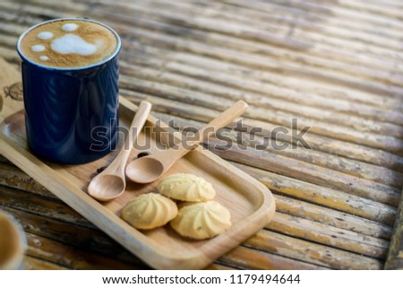 Cookies in a serving tray served with morning coffee. #1179494644