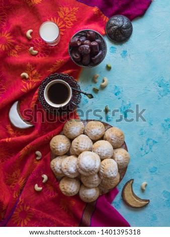 "Cookies of El Fitr Islamic Feast. Ramadan sweets. Egyptian cookies ""Kahk El Eid""  #1401395318"