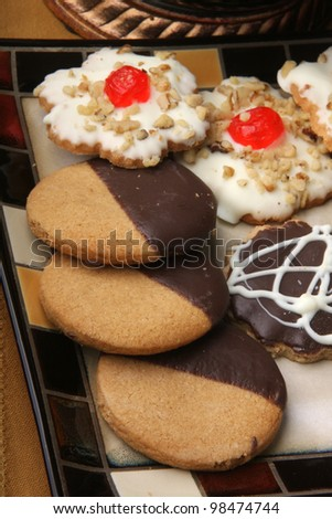 Cookies / Plate with a variety of cookies. Three different kind of cookies