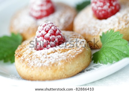 Cookies with a raspberry