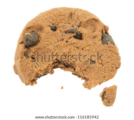 cookies with chocolate on a white background, isolates