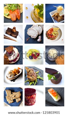Cooking and gastronomy collage