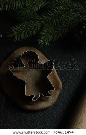 cooking christmas cookies #764651494