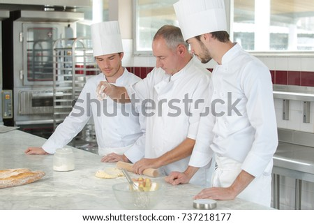 cooking class culinary bakery food and people concept Stock photo ©