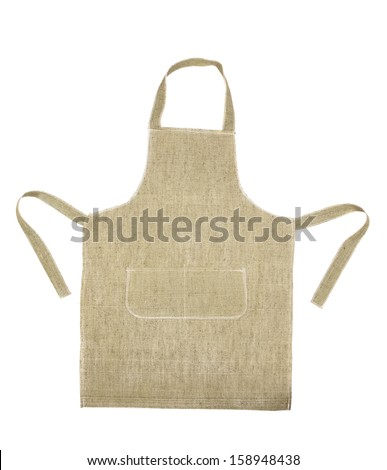Cooking gray apron. Isolated on a white background.