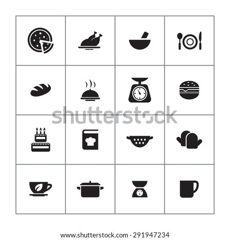 cooking icons universal set for web and mobile