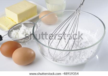 cooking ingredients for preparing food stock photo