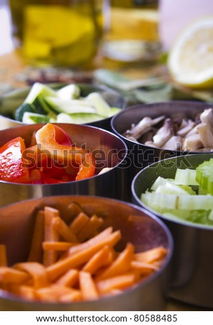Cooking Ingredients. Vegetables - stock photo