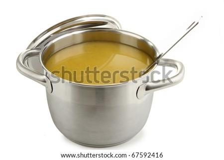 cooking pot of soup