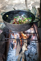 cooking reptile lizard soup from nicaragua