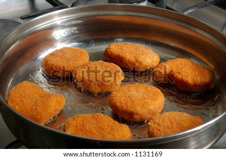 Cooking the chicken nuggets - 2