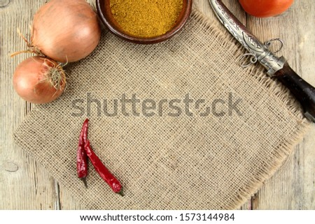 cooking theme background with ingredients