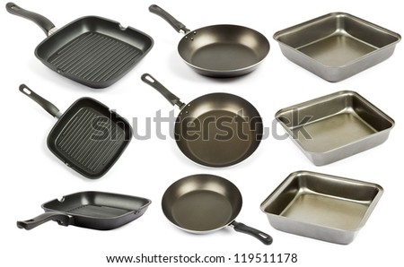 Cookware isolated on white background