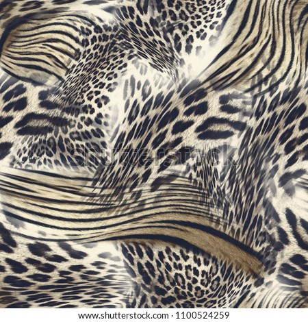cool abstract animal seamless background tile