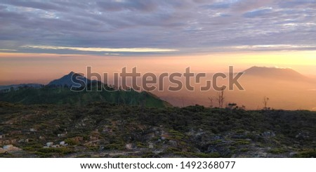 Cool Clouds sunset and Sunrise. Volcano sunrise.