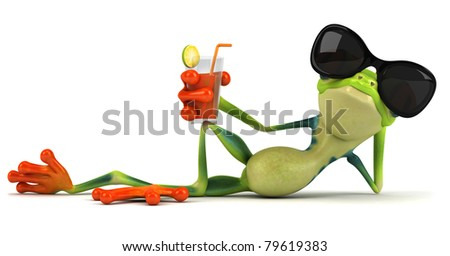 Cool frog - stock photo